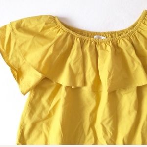 339c8fc7a26 NWOT ruffle off the shoulder top in mustard ...